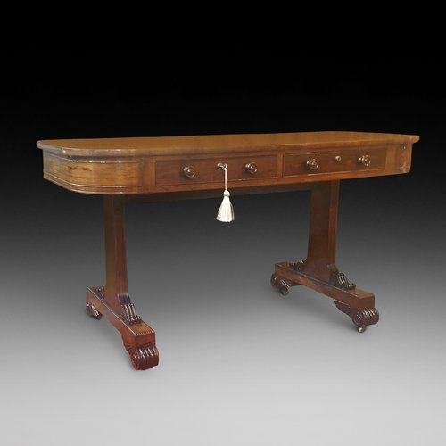 Late Regency Rosewood Library Table