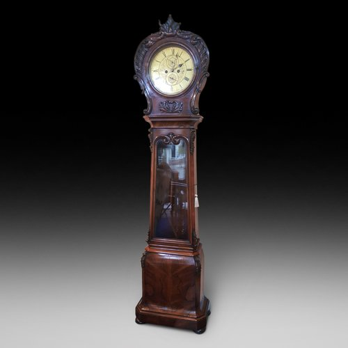 Late Regency Rosewood Longcase Clock by D.Duff