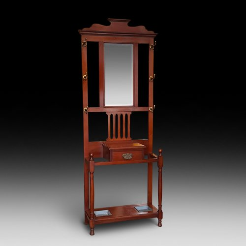 Late Victorian Art Nouveau Walnut Hall Stand