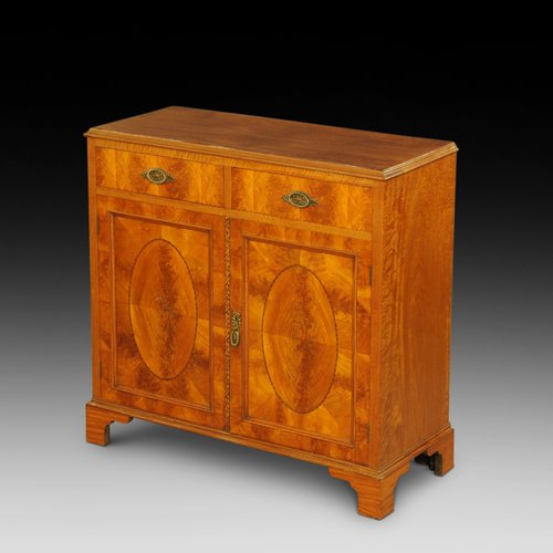 Late Victorian Satinwood Side Cabinet