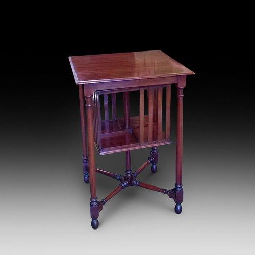 Late Victorian mahogany book table