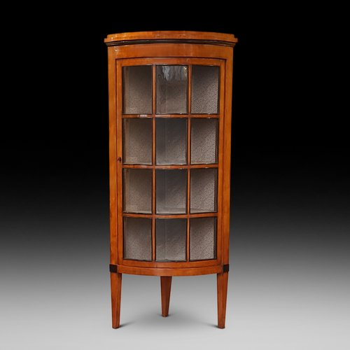 Mid 19thC Biedermeier Satin Birch Corner Cabinet