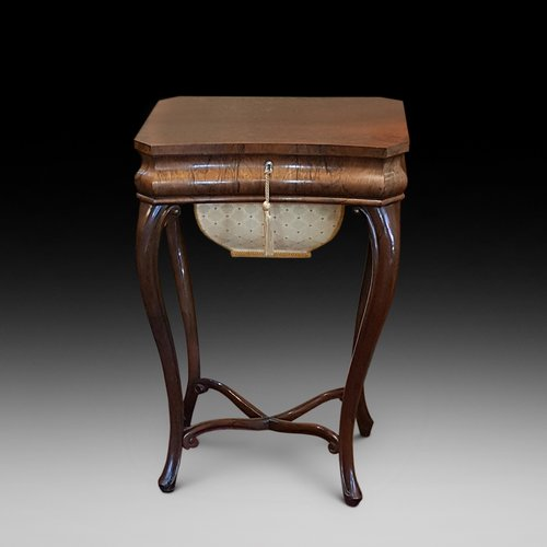 Mid 19thC Rosewood Sewing Table