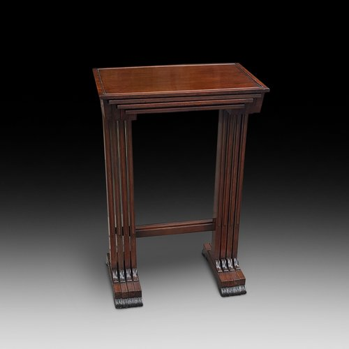 Nest of Early 19thC Rosewood Side Tables