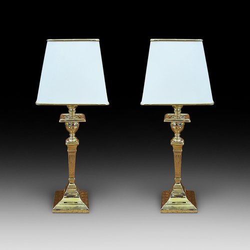 Pair of 1930's Brass Table Lamps