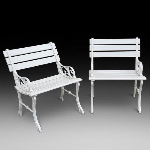 Pair of 1930's Cast Iron Garden Seats