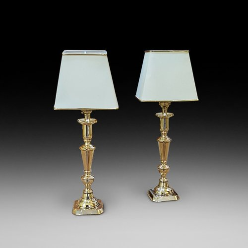 Pair of Edwardian Brass Candlesticks