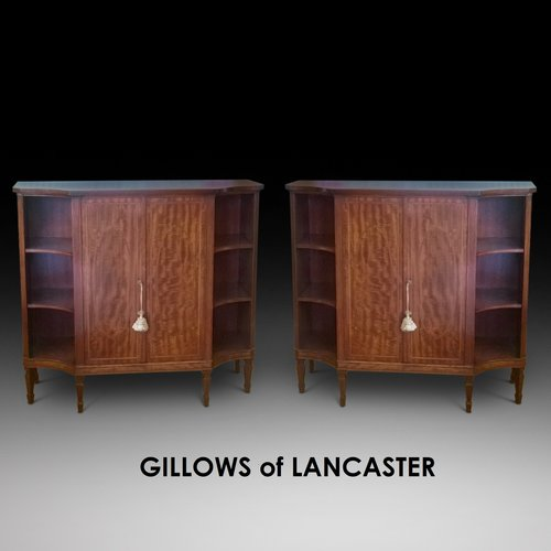Pair of Gillows of Lancaster Mahogany Pier Cabinet
