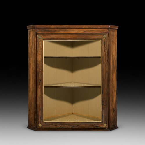 Regency Rosewood Hanging Corner Cabinet