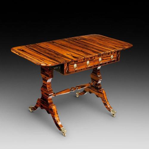 Regency coromandel wood sofa table
