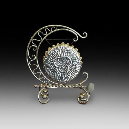 Victorian Beaten Brass Table Gong