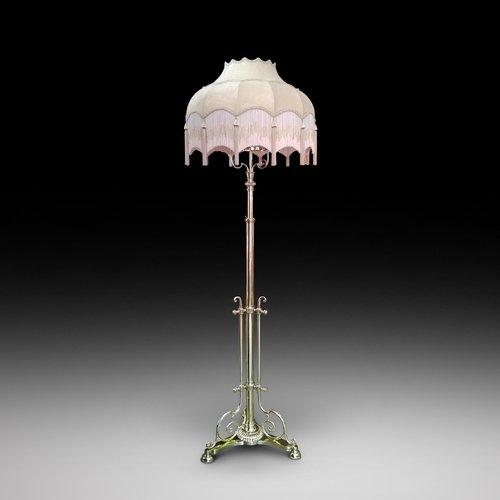 """Victorian Brass """"Messenger"""" Standard Lamp"""