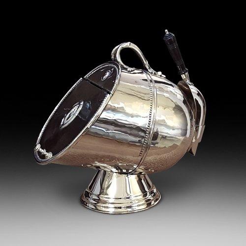 Victorian Brass Lidded Coal Dispenser