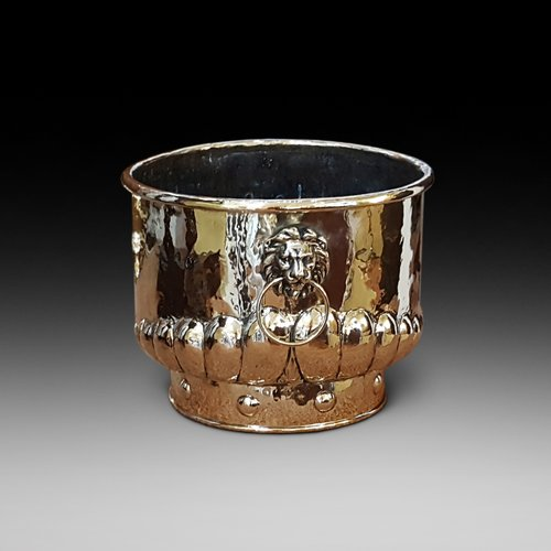 Victorian Brass Log Bucket