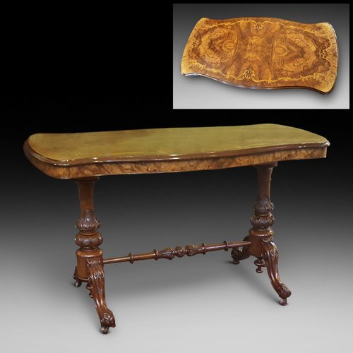 Victorian Walnut and Black Walnut Centre Table