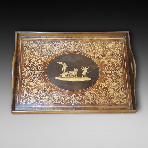 Victorian Walnut and Inlaid Tray