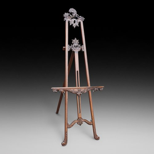 Victorian carved mahogany artist's easel