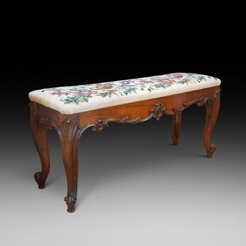 Victorian rosewood window seat