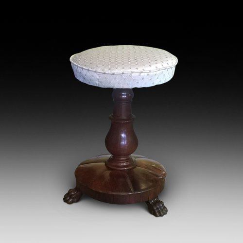 William IV Mahogany Rise and Fall Piano Stool
