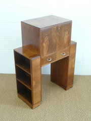 Heals Art deco Walnut Bureau B