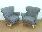 Pair of Early Ercol Windsor Tu