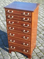 Antique mahogany inlaid wellin