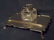 antique silver ink well on ink