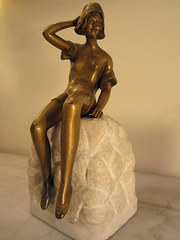 art neveau bronze and marble
