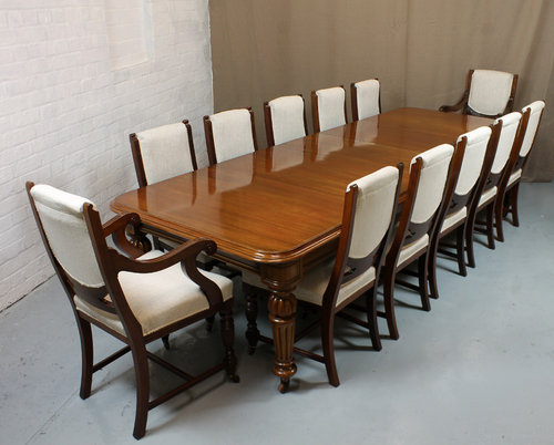 12 seater exctending dining table antiques atlas for 12 seater table