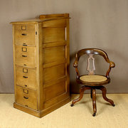 1920s Oak Lecturn Top Filing C