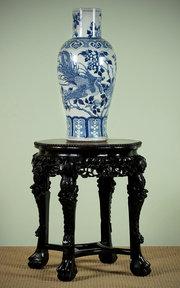 Chinese Urn Stand c1880