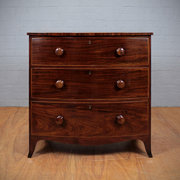 Early 19thc Bow Front Chest of