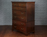 Early 19thc Oak Chest on Chest