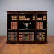 Edwardian Mahogany Open Bookca