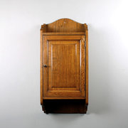 Edwardian Oak Wall Cabinet