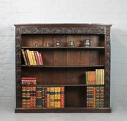 Late 19thc Carved Oak Bookcase