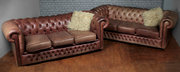 Leather Chesterfield Club Sofa