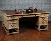 Limed Oak Partners Desk c1920