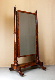 Mid 19thc Cheval Mirror c1840
