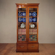 Tall Edwardian Walnut Bookcase