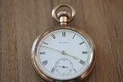 Waltham open face pocket watch