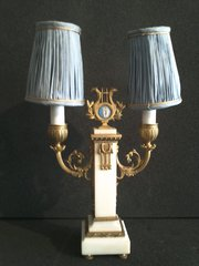 Pair of Alabaster Candelabra