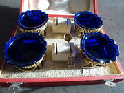 Silver gilt open salts set of