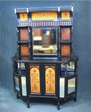 Superb English Aesthetic Movement Ebonized Cabinet