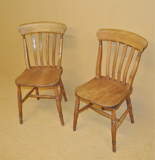 Windsor Kitchen Chairs: Pair Of Windsor Kitchen Chairs