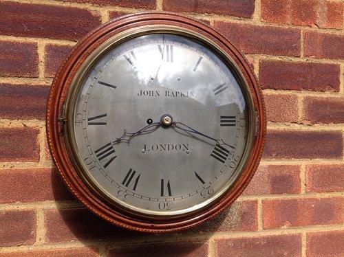 Verge fusee wall clock