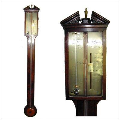 Mahogany Stick Barometer