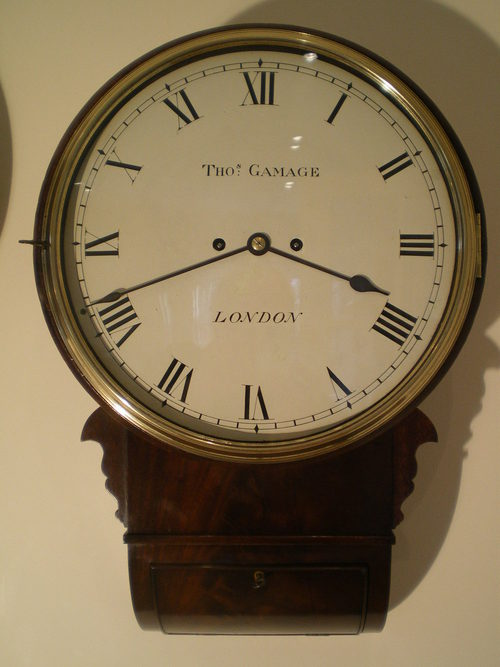 Antiques Atlas Twin Fusee Striking Drop Dial Wall Clock