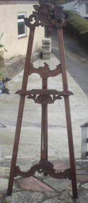 mahogany carved easel