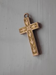 Vintage Gold Cross  Pendant